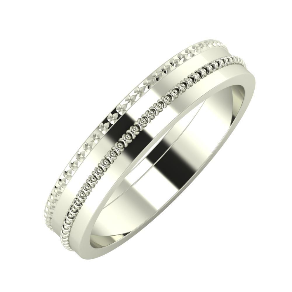 Ági - Afrodita 4mm 14 karátos fehér arany karikagyűrű