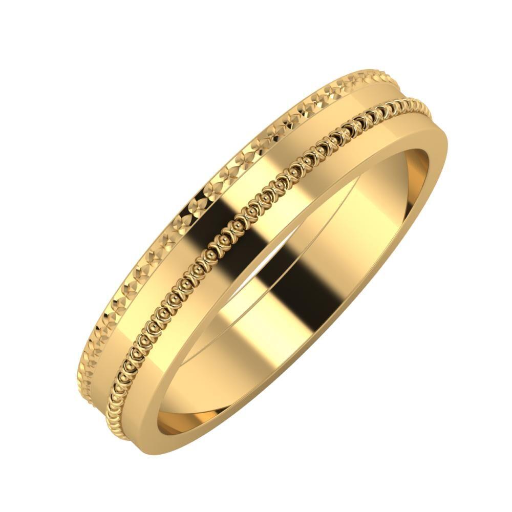 Ági - Afrodita 4mm 18 karátos sárga arany karikagyűrű
