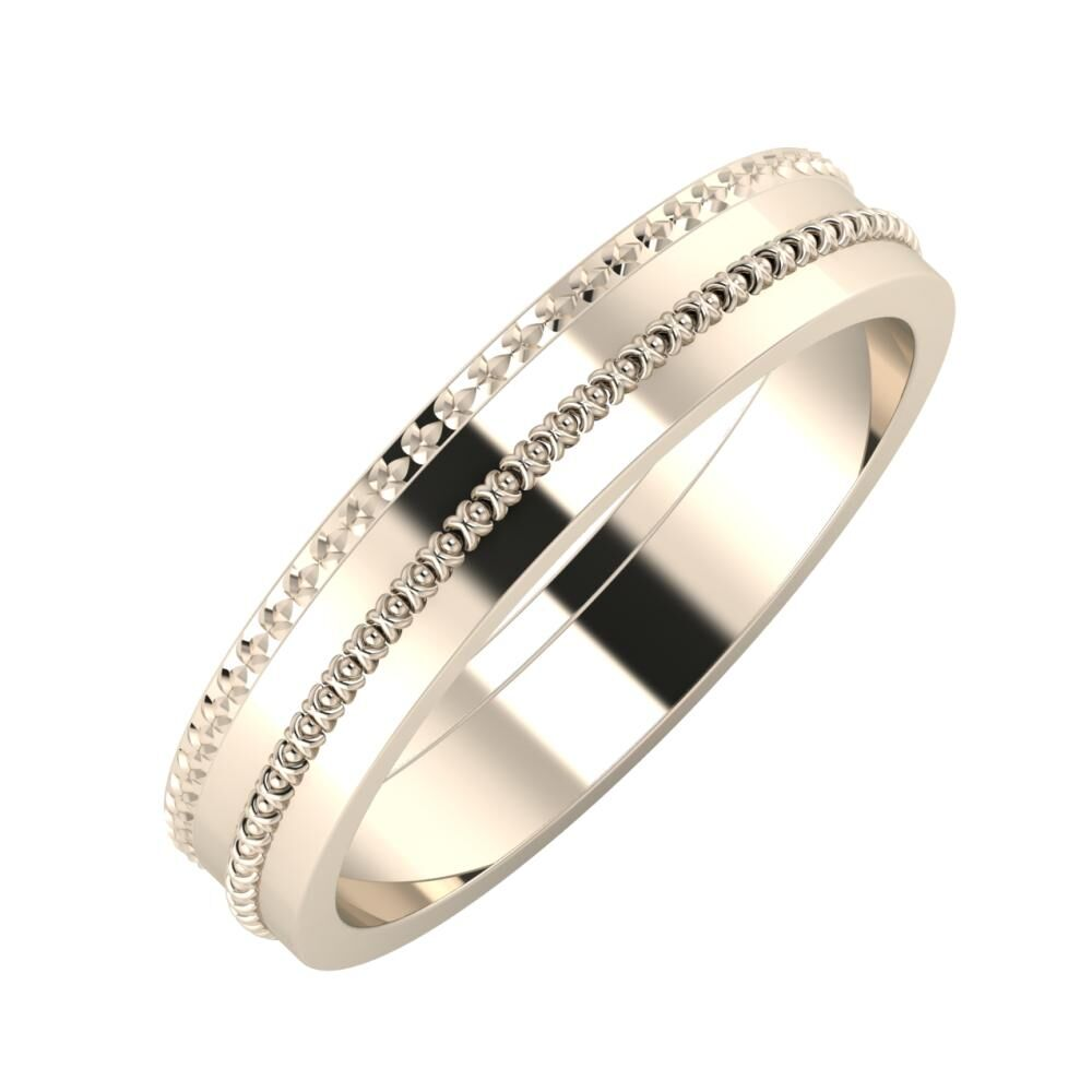 Ági - Afrodita 4mm 22 karátos rosé arany karikagyűrű