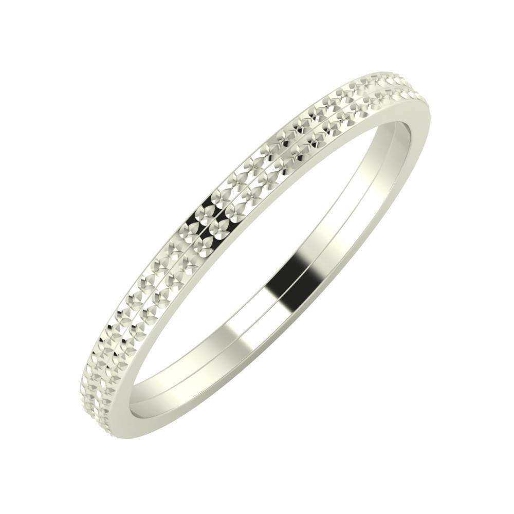 Ági - Ági 2mm 14 karátos fehér arany karikagyűrű
