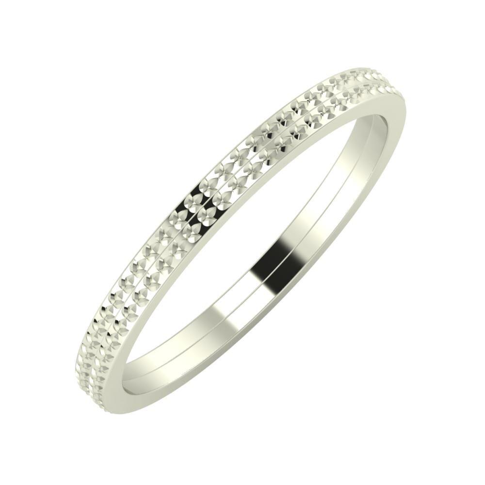 Ági - Ági 2mm 18 karátos fehér arany karikagyűrű
