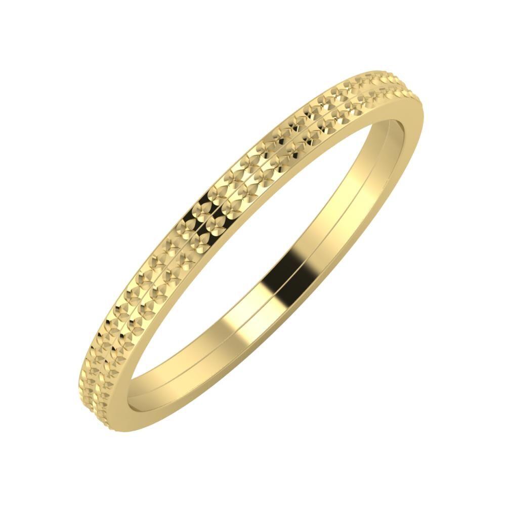 Ági - Ági 2mm 14 karátos sárga arany karikagyűrű
