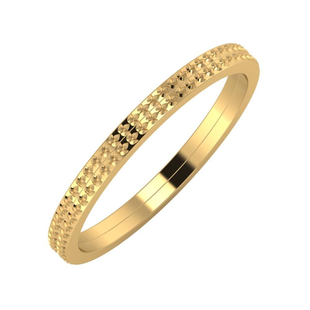 Ági - Ági 2mm 18 karátos sárga arany karikagyűrű