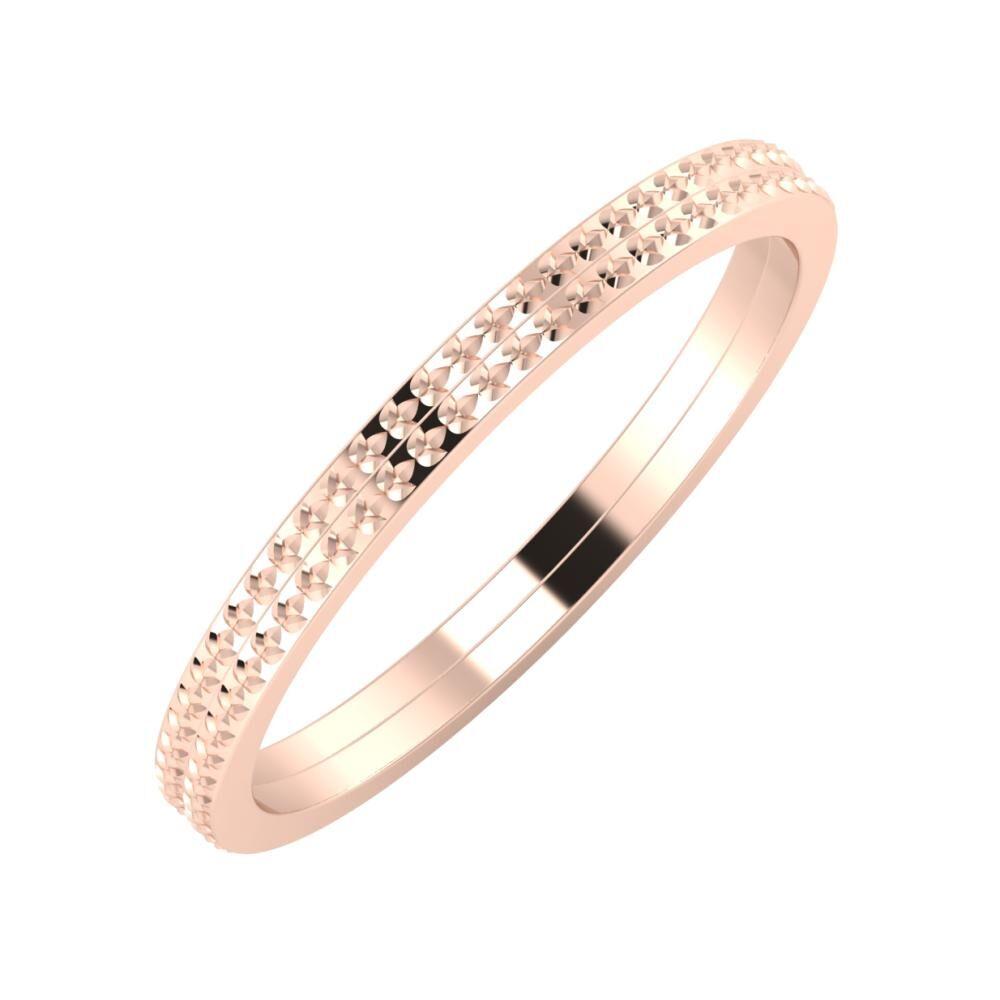 Ági - Ági 2mm 18 karátos rosé arany karikagyűrű