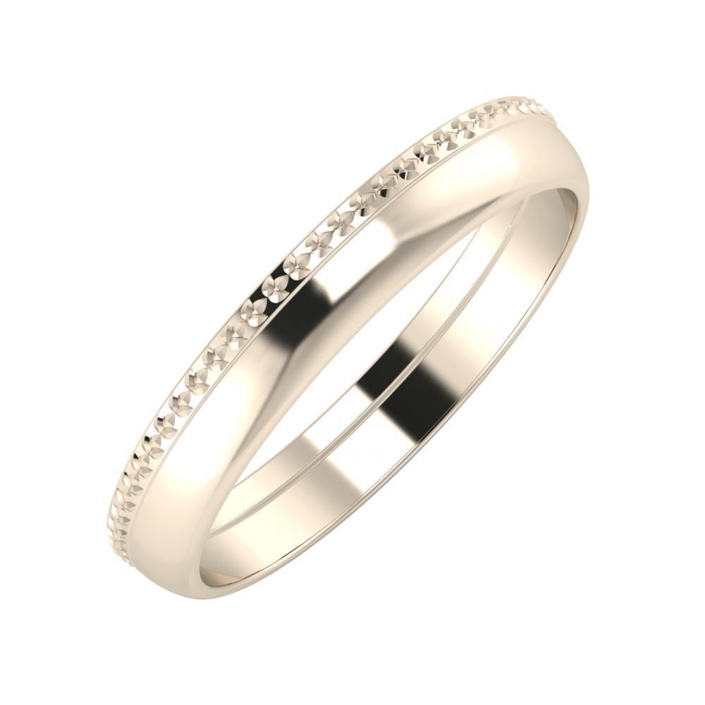 Ági - Ágosta 3mm 22 karátos rosé arany karikagyűrű
