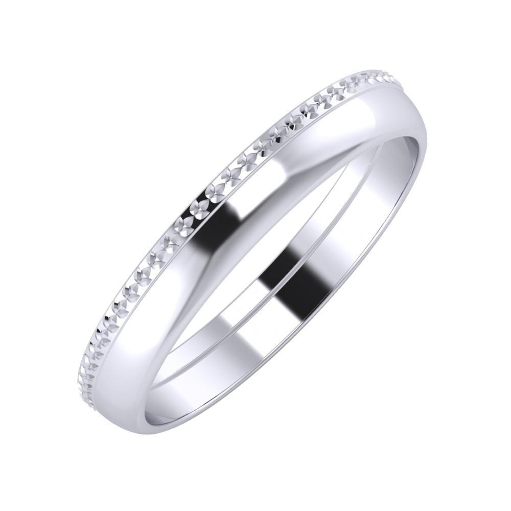 Ági - Ágosta 3mm platina karikagyűrű
