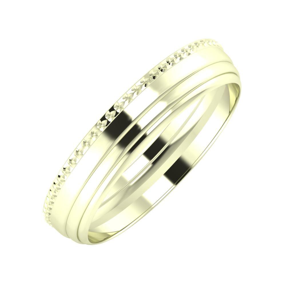 Ági - Aina 4mm 22 karátos fehér arany karikagyűrű
