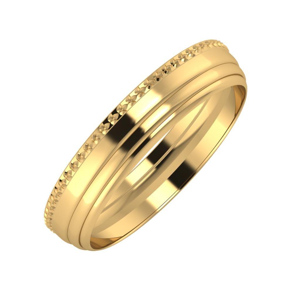 Ági - Aina 4mm 22 karátos sárga arany karikagyűrű