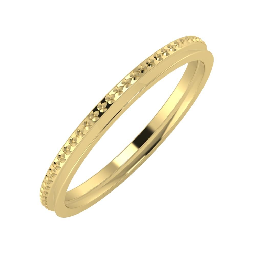 Ági - Aisa 2mm 14 karátos sárga arany karikagyűrű