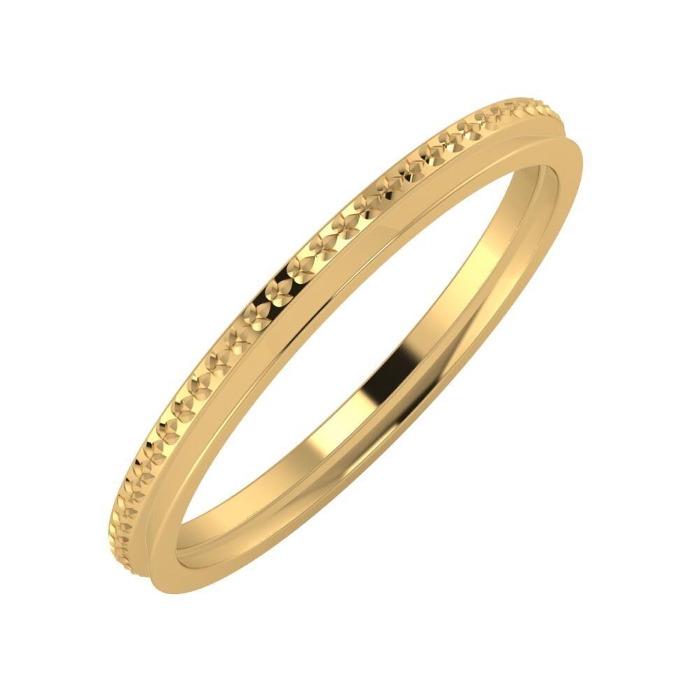 Ági - Aisa 2mm 18 karátos sárga arany karikagyűrű