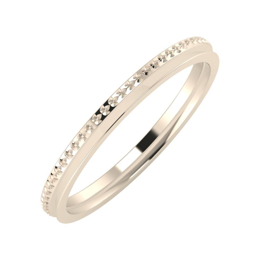 Ági - Aisa 2mm 22 karátos rosé arany karikagyűrű