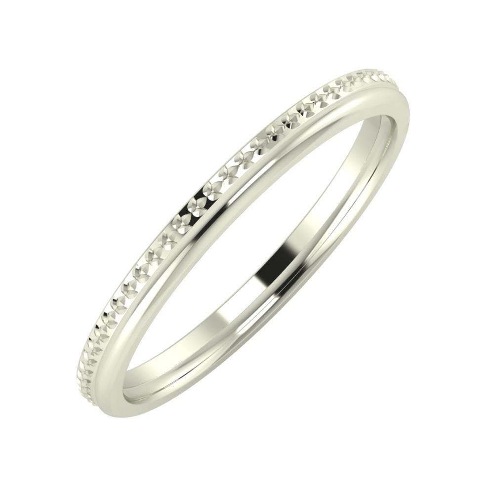 Ági - Aletta 2mm 18 karátos fehér arany karikagyűrű
