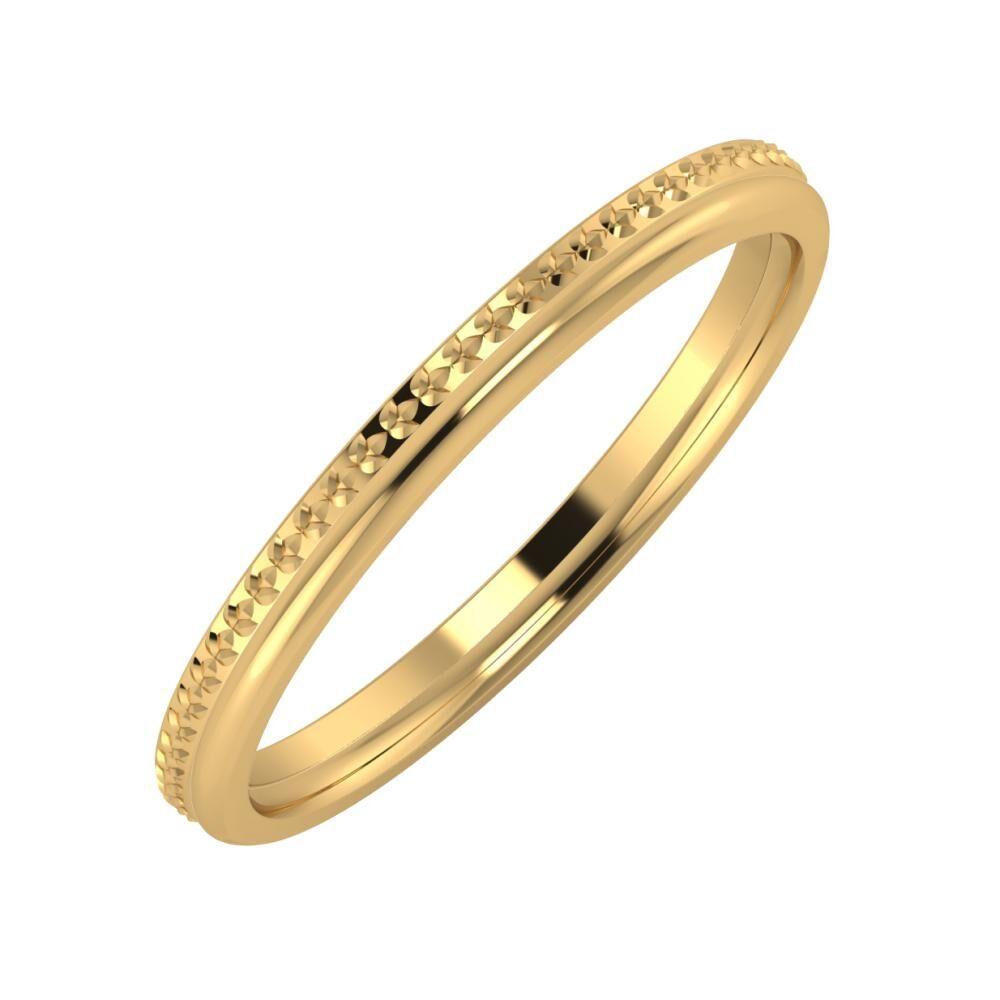 Ági - Aletta 2mm 22 karátos sárga arany karikagyűrű