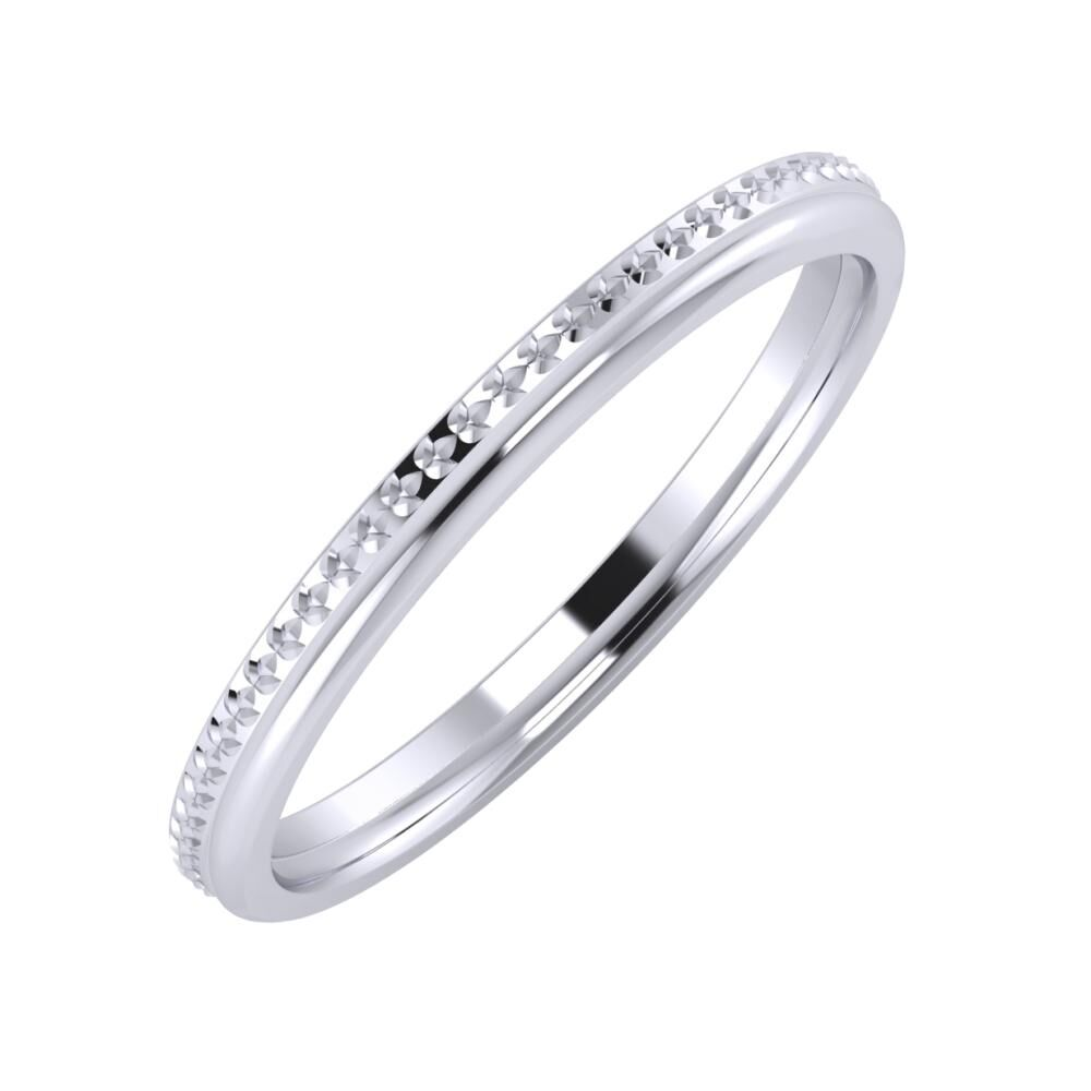Ági - Aletta 2mm platina karikagyűrű