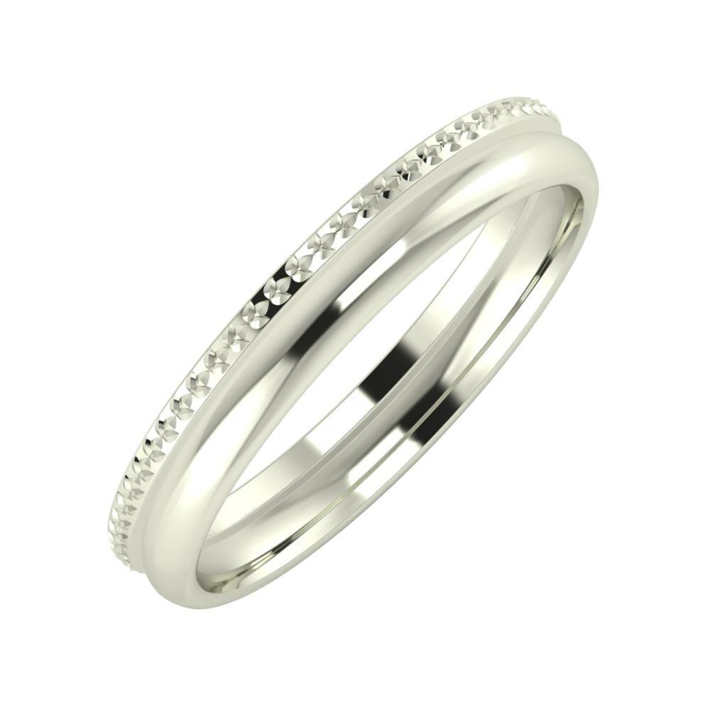 Ági - Alexa 3mm 14 karátos fehér arany karikagyűrű