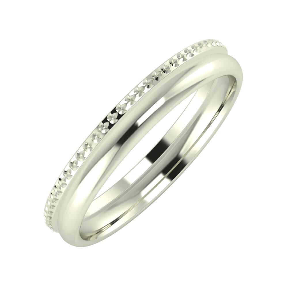 Ági - Alexa 3mm 18 karátos fehér arany karikagyűrű