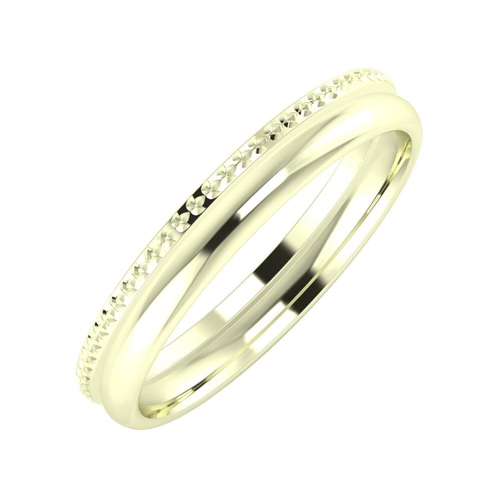 Ági - Alexa 3mm 22 karátos fehér arany karikagyűrű