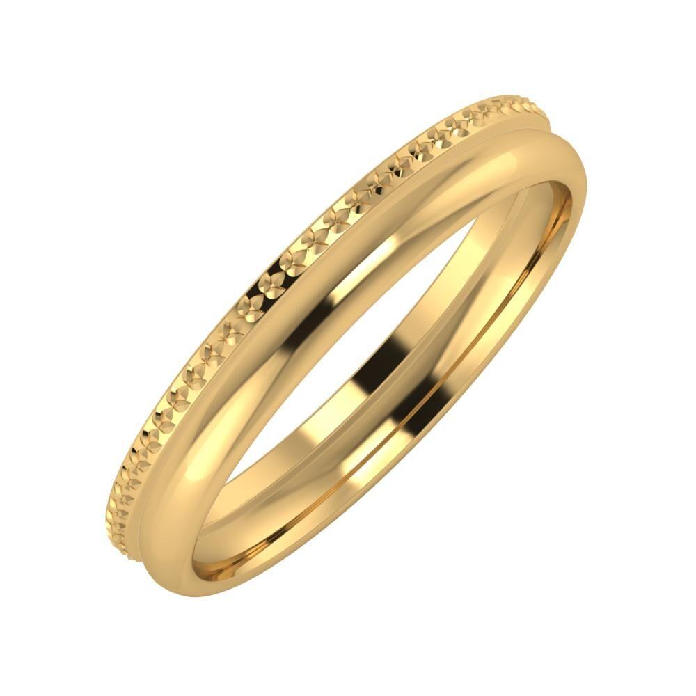 Ági - Alexa 3mm 22 karátos sárga arany karikagyűrű