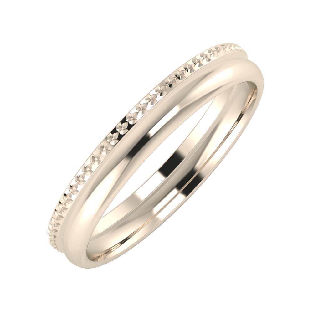 Ági - Alexa 3mm 22 karátos rosé arany karikagyűrű