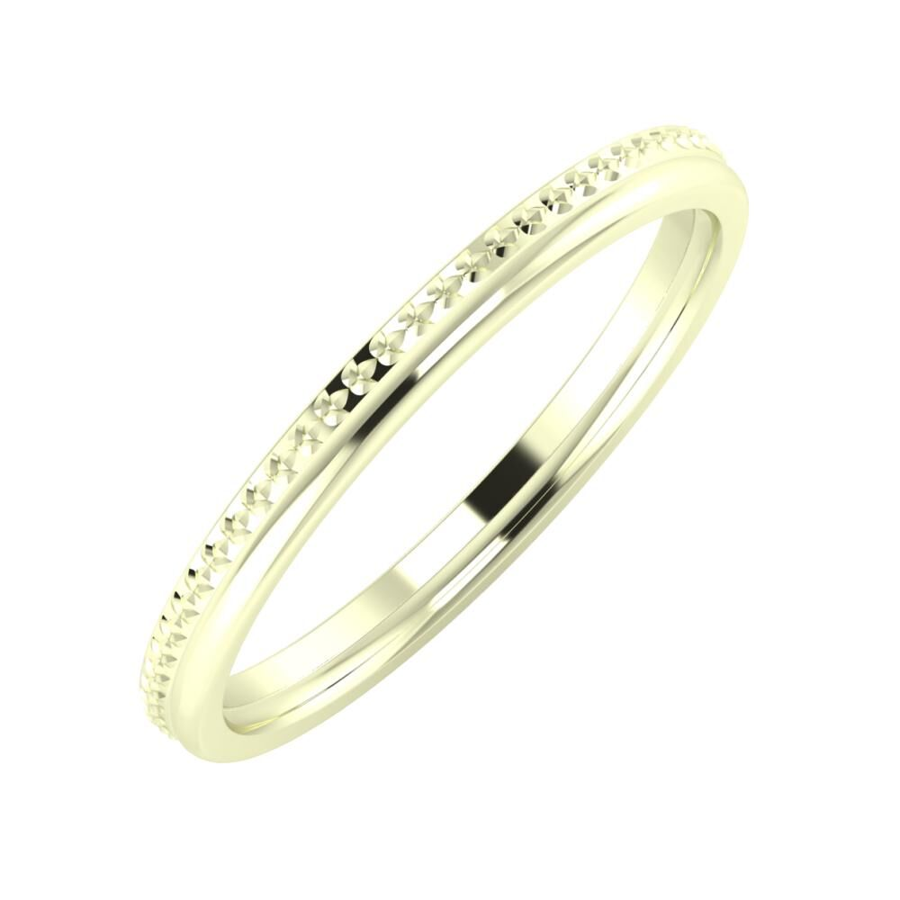 Ági - Alexandra 2mm 22 karátos fehér arany karikagyűrű