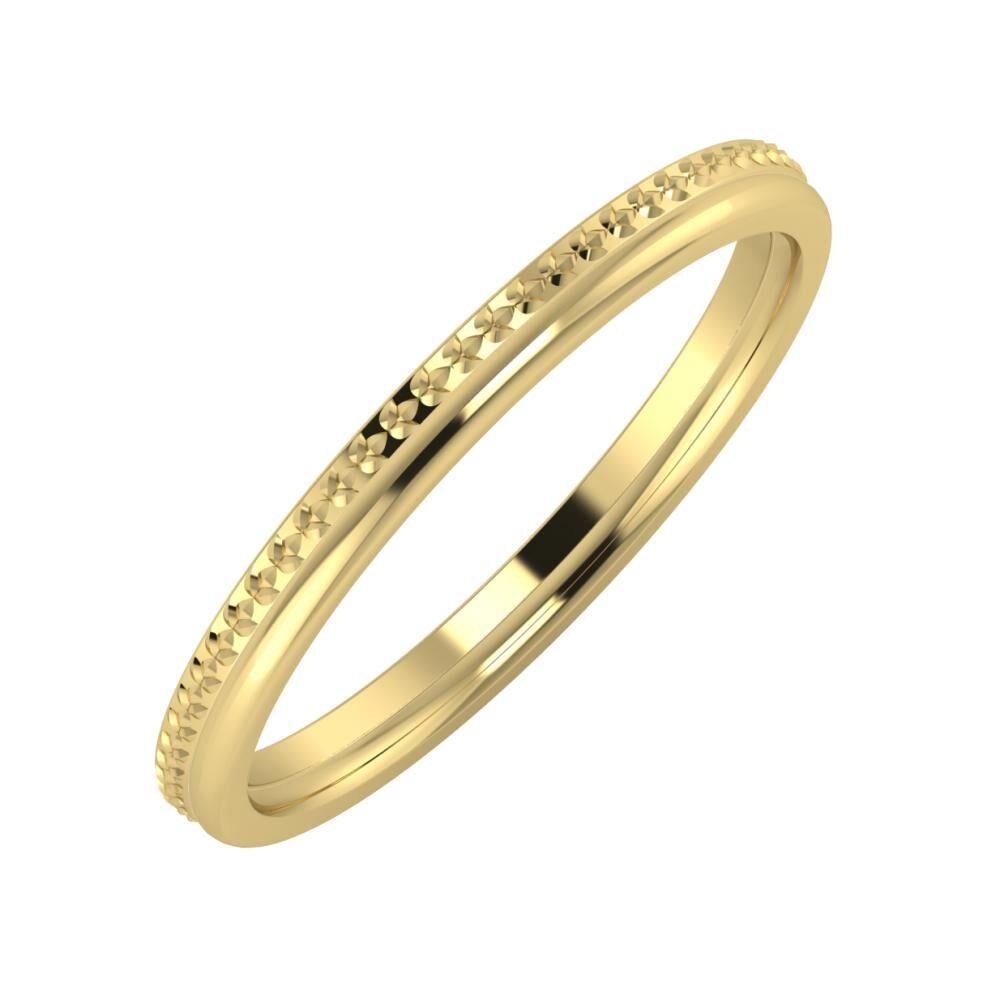 Ági - Alexandra 2mm 14 karátos sárga arany karikagyűrű
