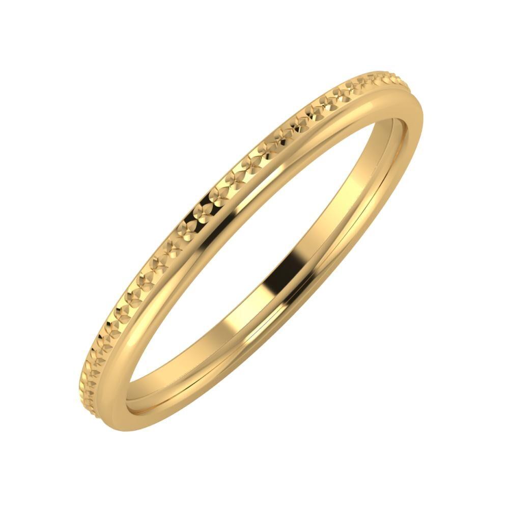 Ági - Alexandra 2mm 22 karátos sárga arany karikagyűrű