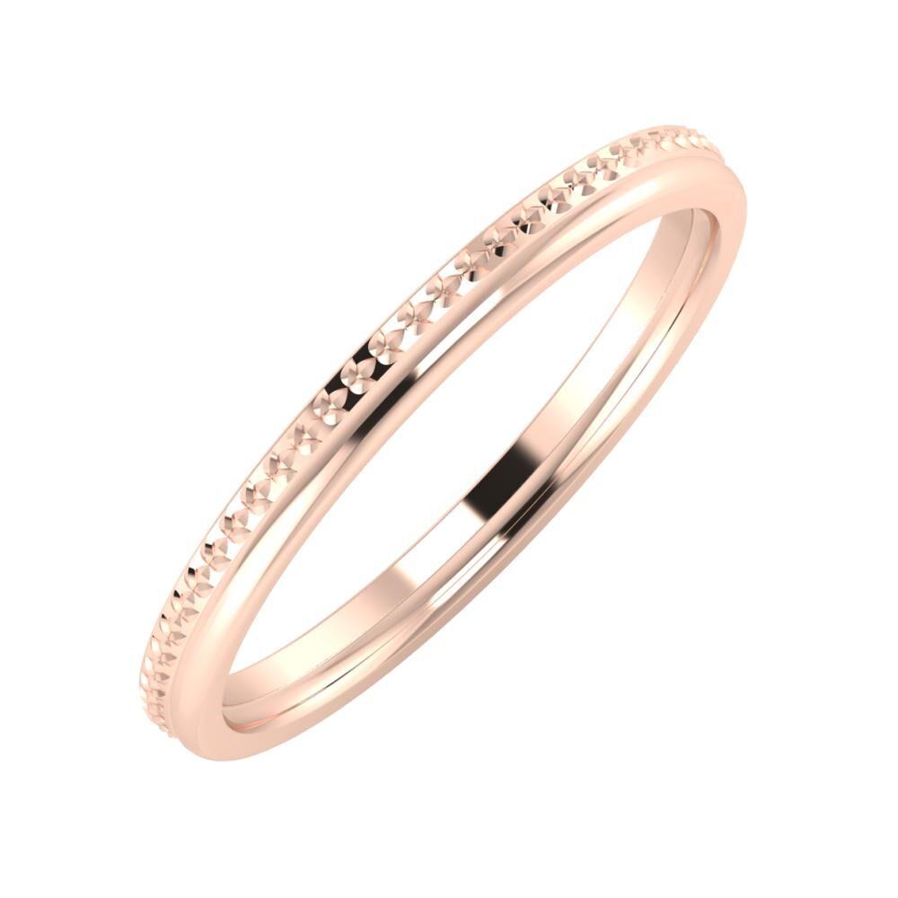 Ági - Alexandra 2mm 18 karátos rosé arany karikagyűrű