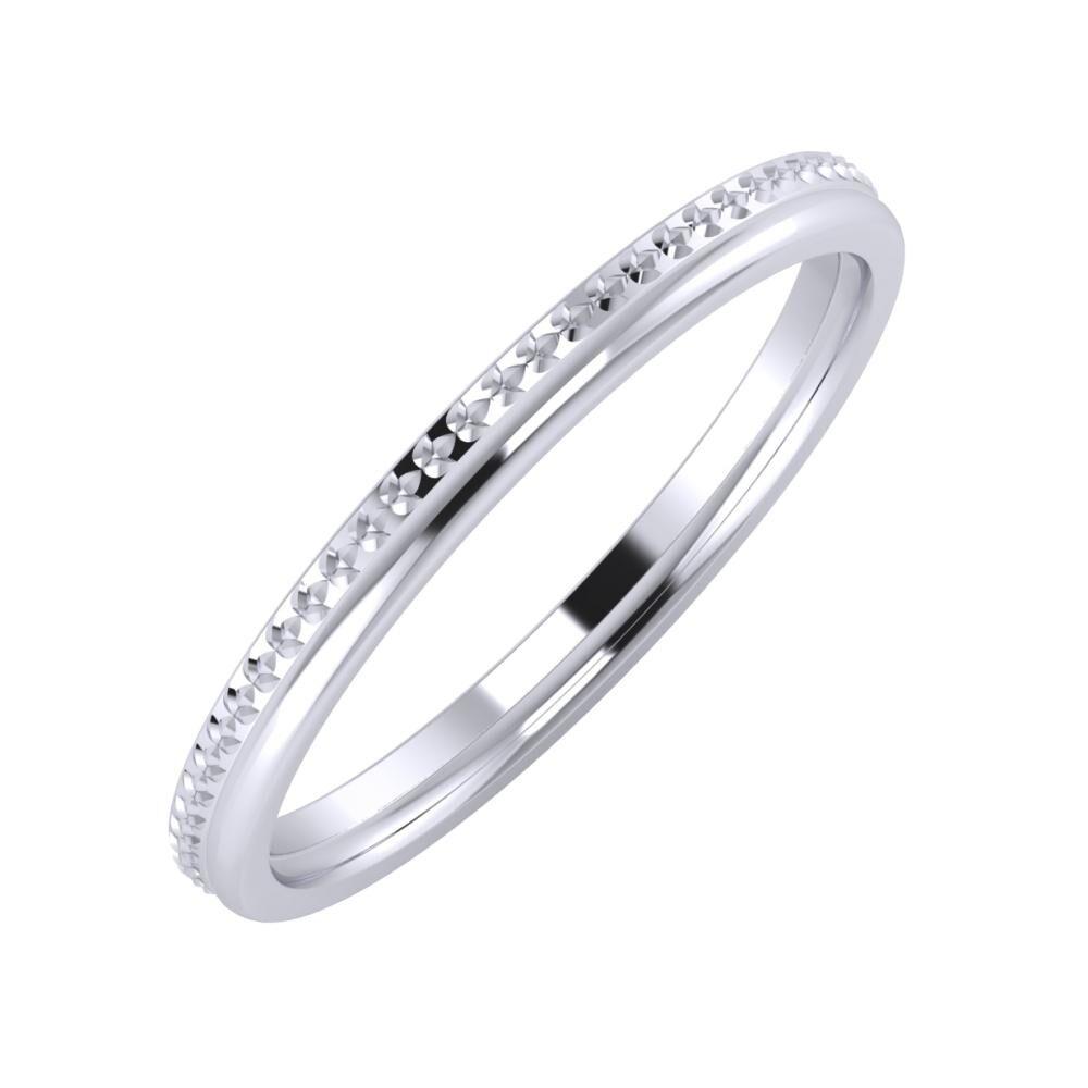 Ági - Alexandra 2mm platina karikagyűrű
