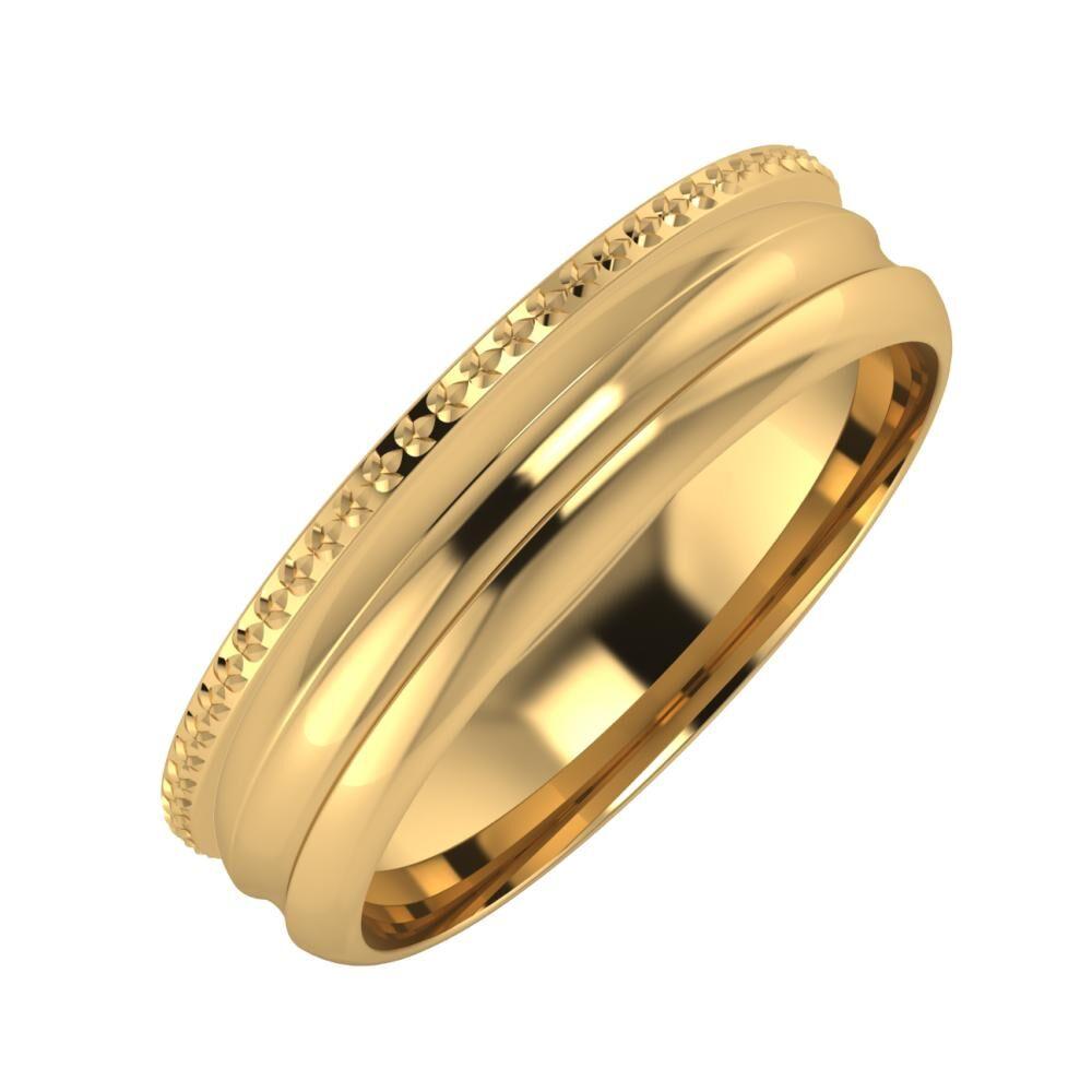 Ági - Alexandrin 5mm 18 karátos sárga arany karikagyűrű