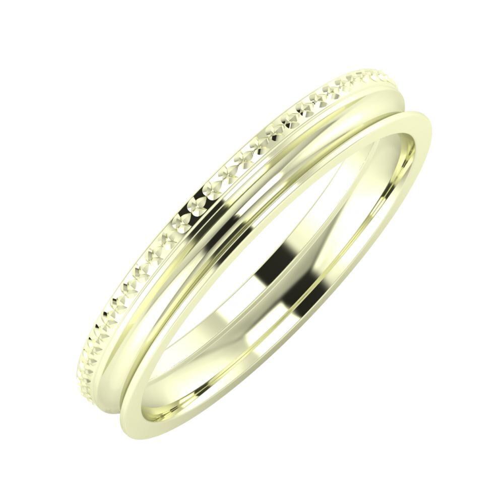 Ági - Alexandrina 3mm 22 karátos fehér arany karikagyűrű