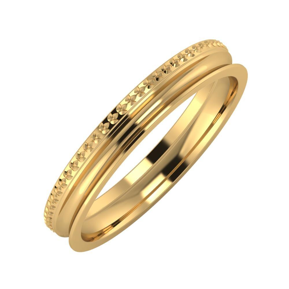 Ági - Alexandrina 3mm 18 karátos sárga arany karikagyűrű
