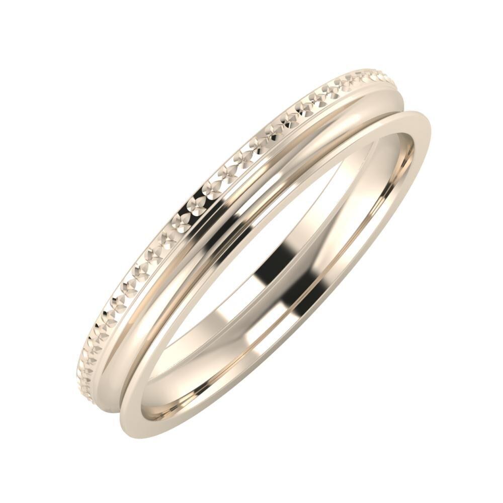 Ági - Alexandrina 3mm 22 karátos rosé arany karikagyűrű