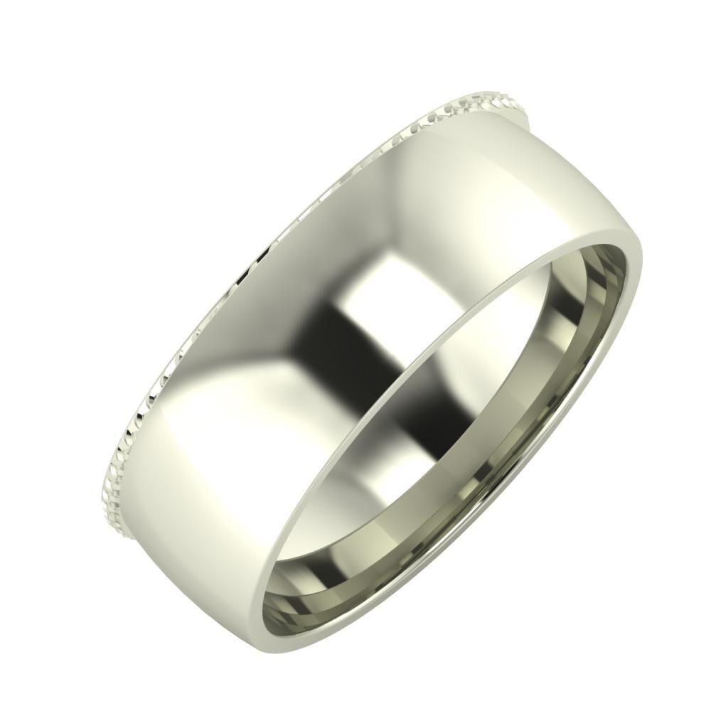 Ági - Alma 7mm 18 karátos fehér arany karikagyűrű