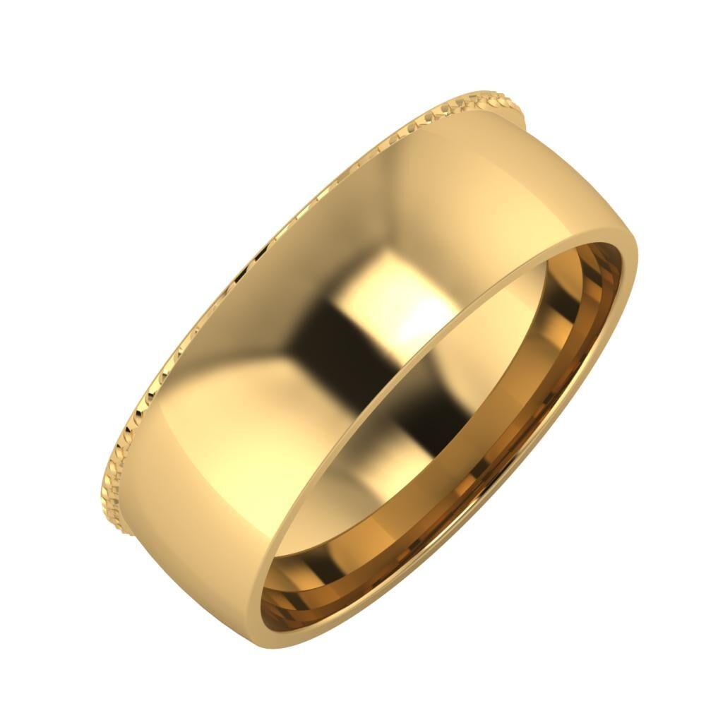 Ági - Alma 7mm 18 karátos sárga arany karikagyűrű