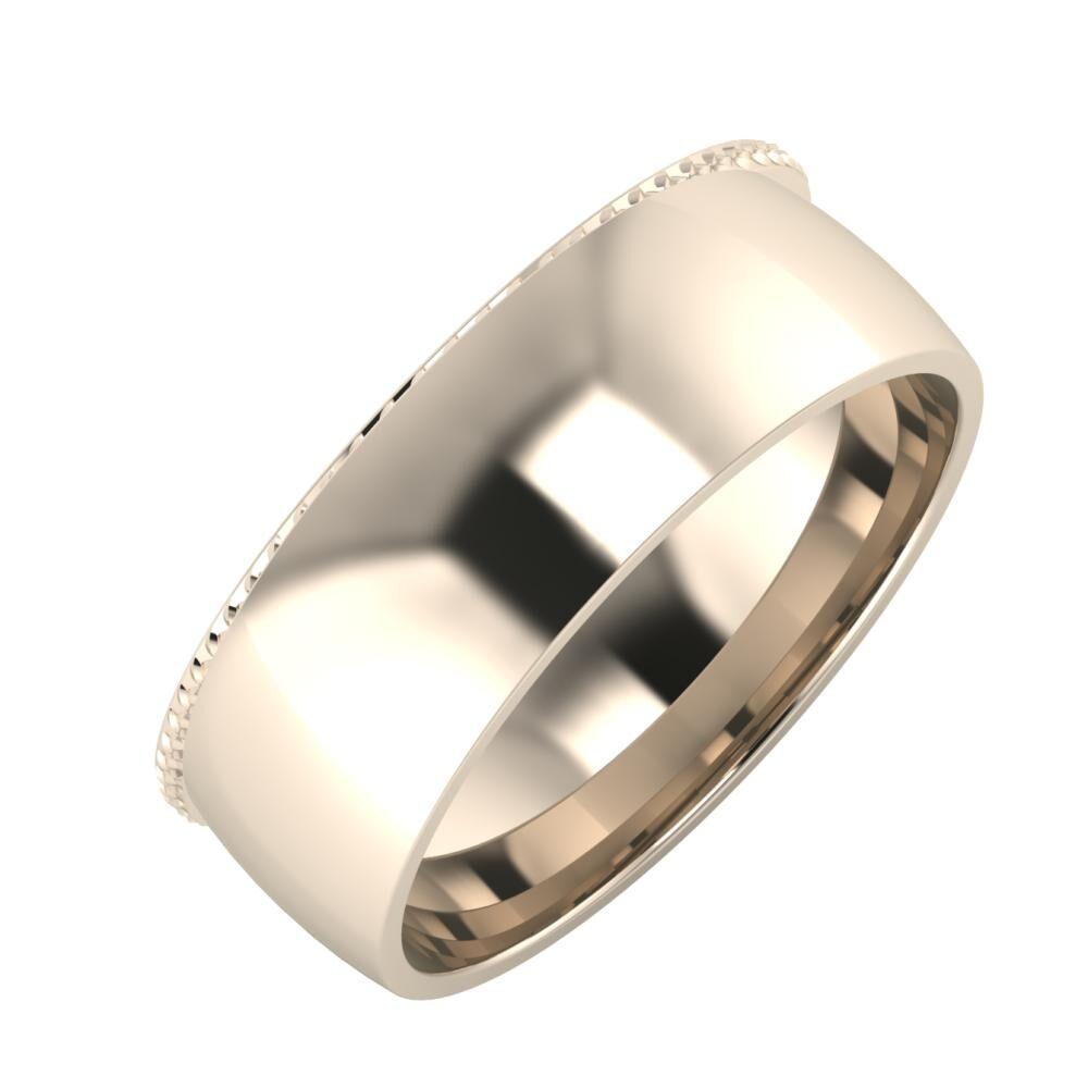 Ági - Alma 7mm 22 karátos rosé arany karikagyűrű
