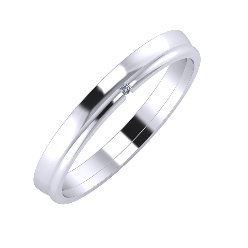 Ágosta - Adalind 3mm platina karikagyűrű