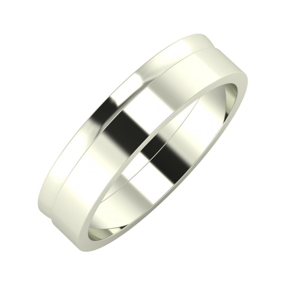 Ágosta - Adela 5mm 18 karátos fehér arany karikagyűrű