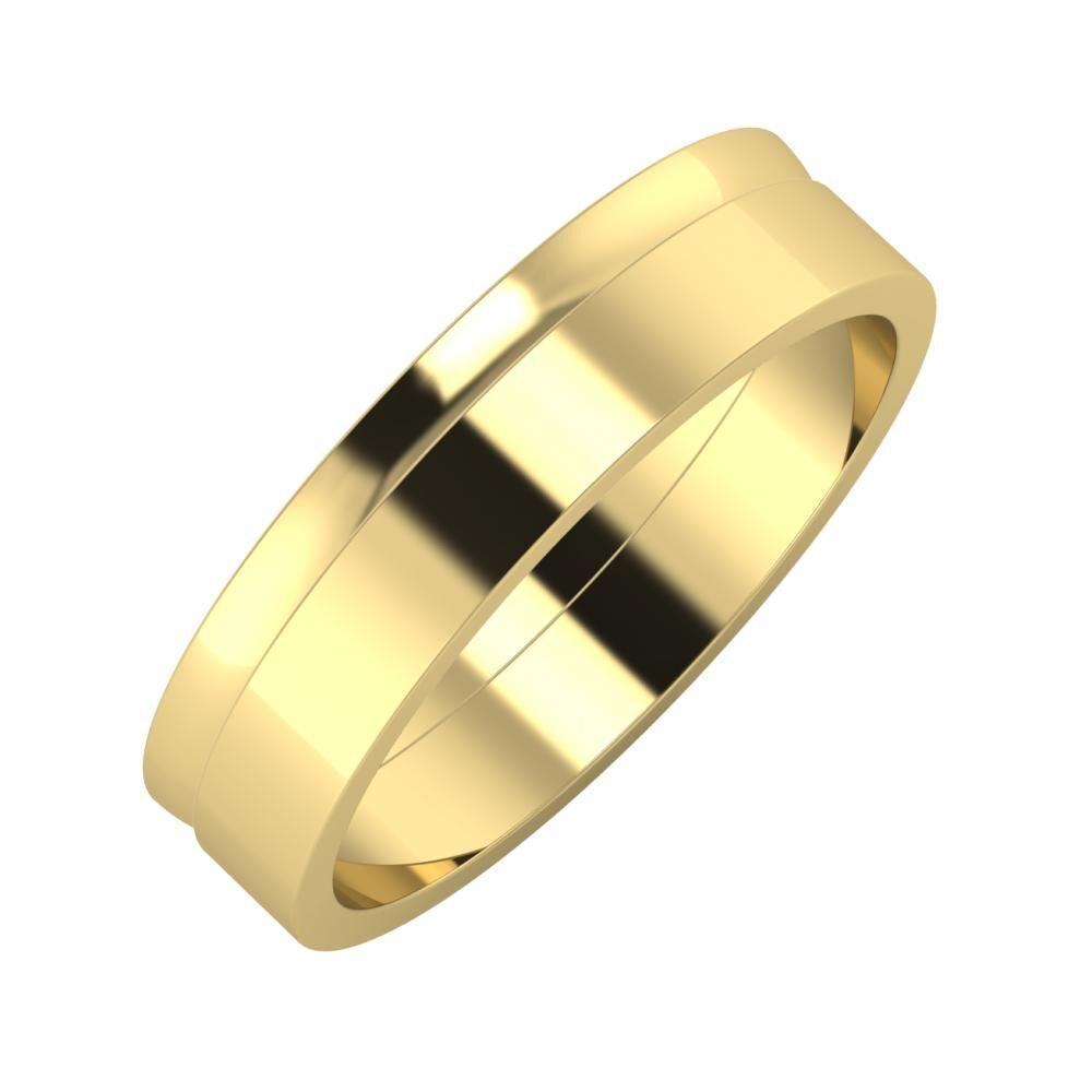 Ágosta - Adela 5mm 14 karátos sárga arany karikagyűrű