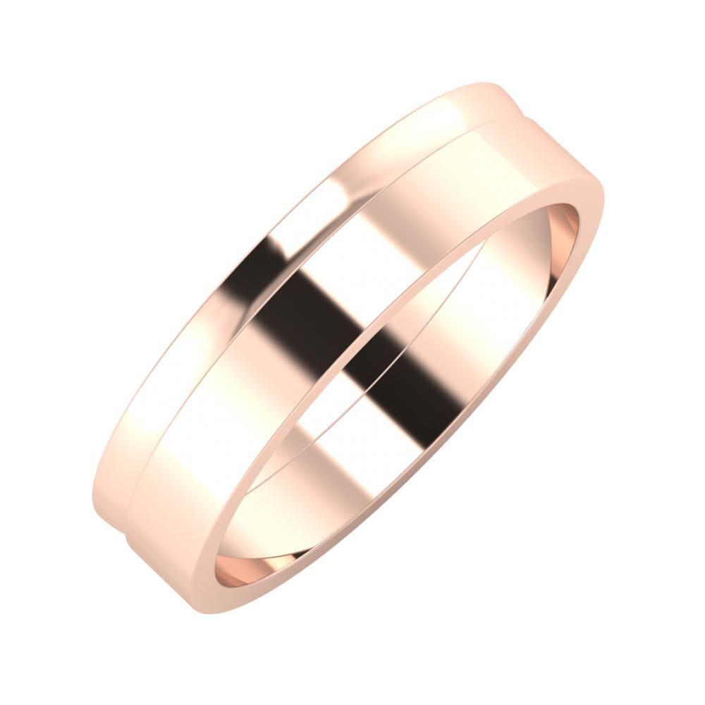 Ágosta - Adela 5mm 14 karátos rosé arany karikagyűrű