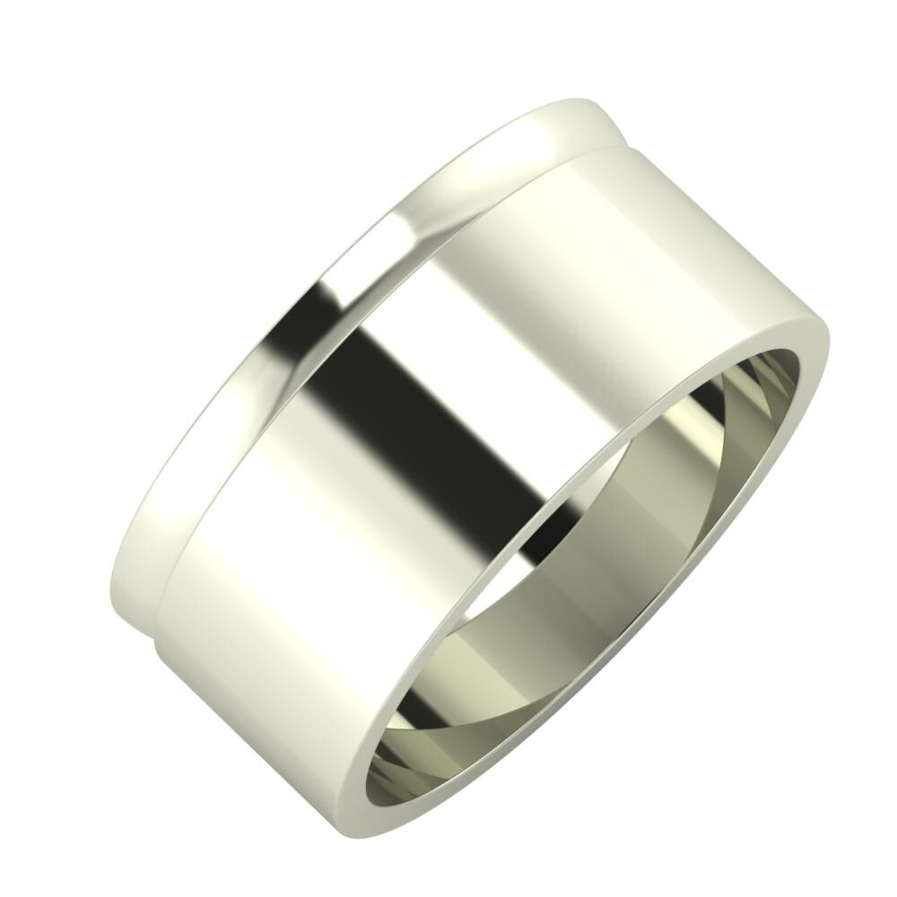 Ágosta - Adela 9mm 18 karátos fehér arany karikagyűrű