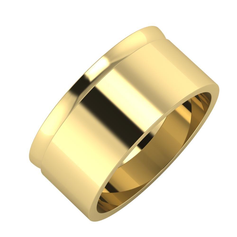 Ágosta - Adela 9mm 14 karátos sárga arany karikagyűrű