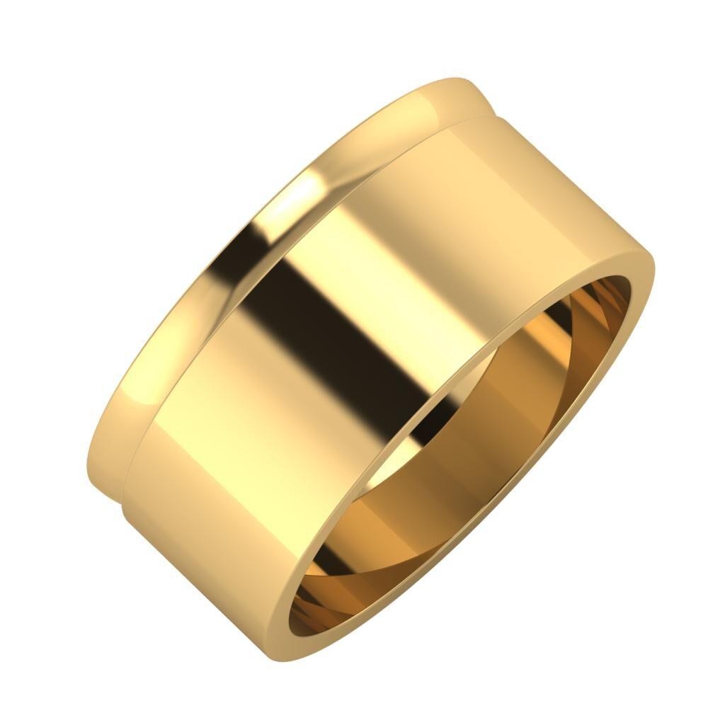 Ágosta - Adela 9mm 22 karátos sárga arany karikagyűrű