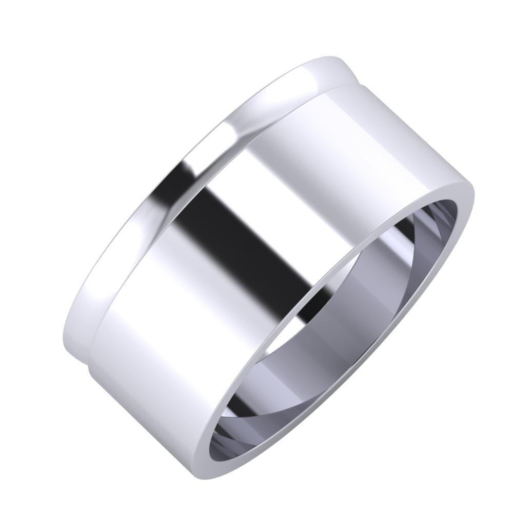 Ágosta - Adela 9mm platina karikagyűrű