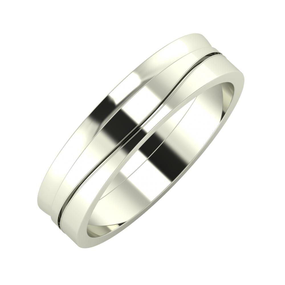 Ágosta - Adelinda 5mm 14 karátos fehér arany karikagyűrű