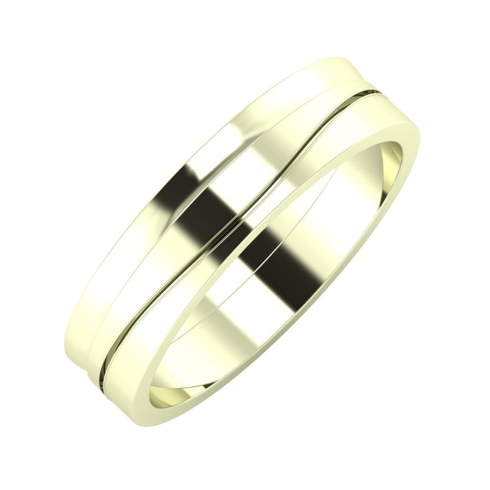 Ágosta - Adelinda 5mm 22 karátos fehér arany karikagyűrű