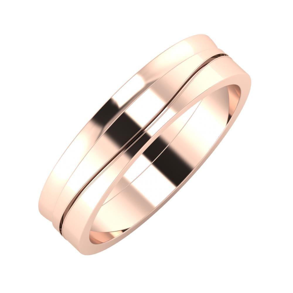 Ágosta - Adelinda 5mm 14 karátos rosé arany karikagyűrű