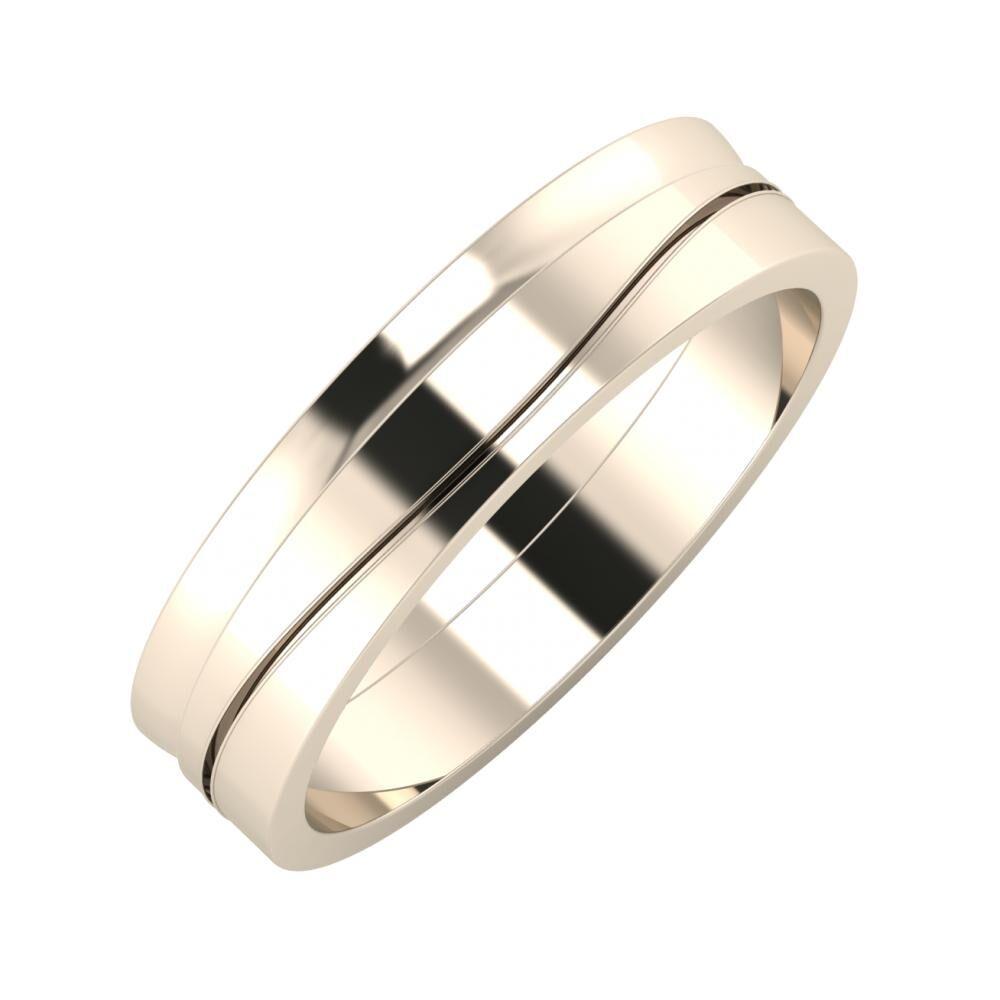 Ágosta - Adelinda 5mm 22 karátos rosé arany karikagyűrű