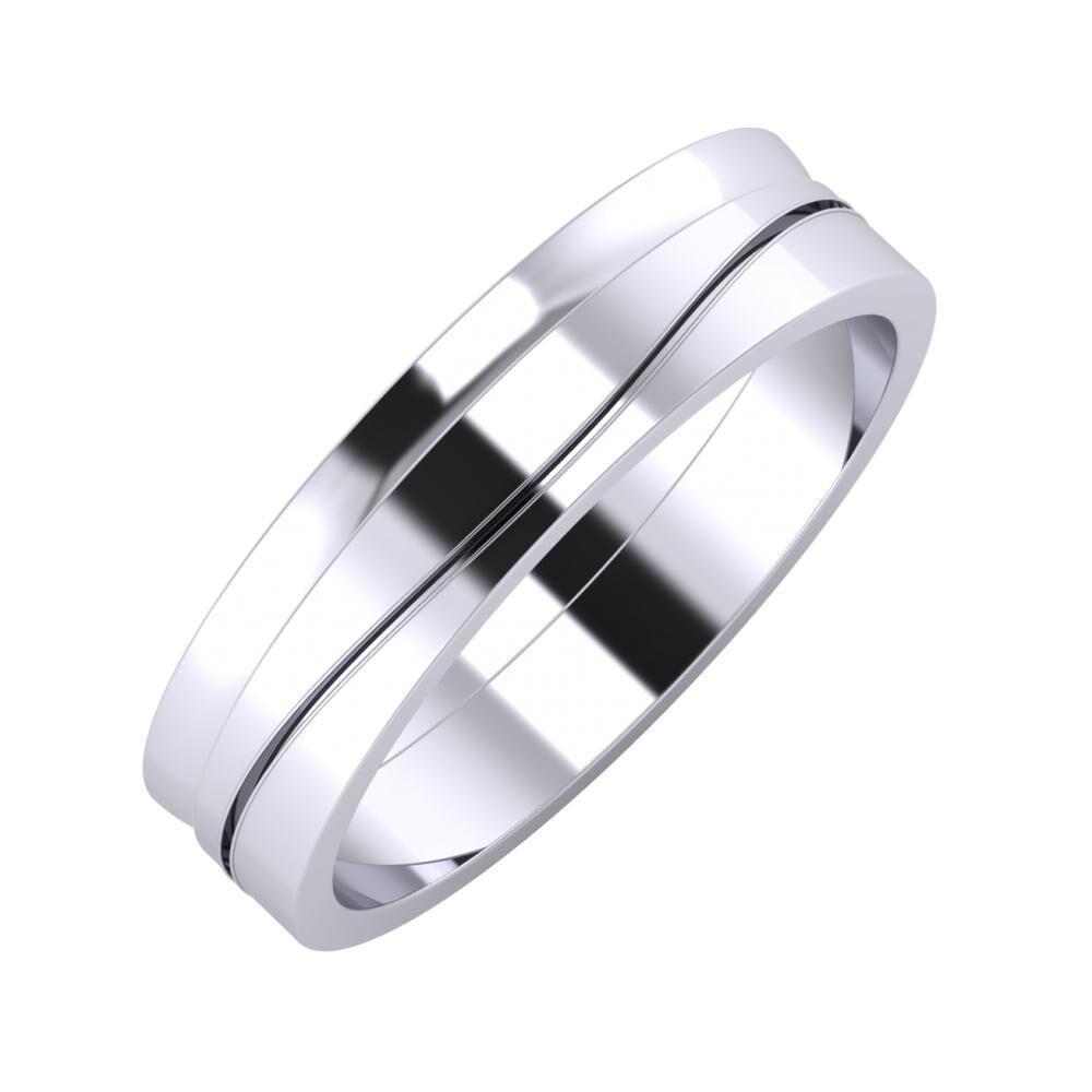 Ágosta - Adelinda 5mm platina karikagyűrű