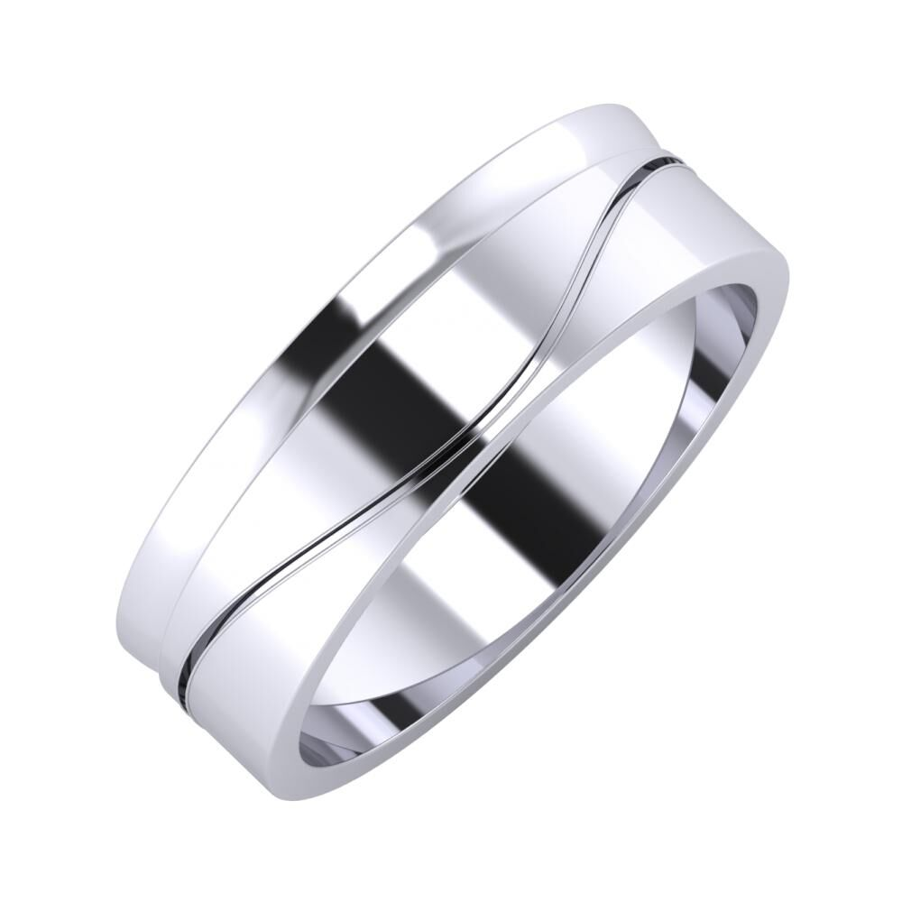 Ágosta - Adelinda 6mm platina karikagyűrű