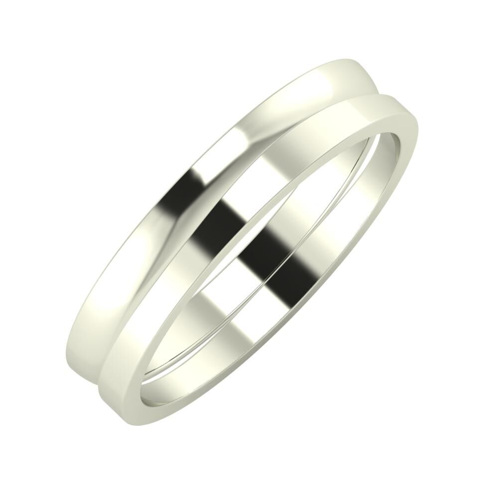 Ágosta - Adria 4mm 18 karátos fehér arany karikagyűrű